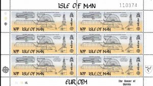 Isle Of Man 1983 Europa Sheets of Six (6) Scott 244-245 VF/NH/(**) Architecture