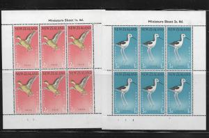 NEW ZEALAND, B57A-B58A, MINT HINGED HINGE REMNANT,SS, MINI SHEETS, HEALTH ISSUE