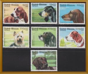 Guinea-Bissau 742-748 Hinged CTO 1988 Dogs Set