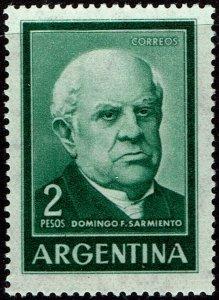 Argentina #742  MNH - Domingo Sarmiento (1962)