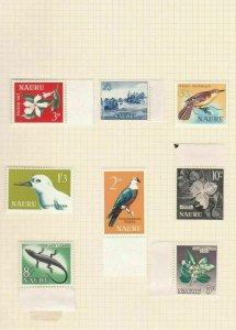 nauru  1963 - 1966  mounted mint stamps ref r13025