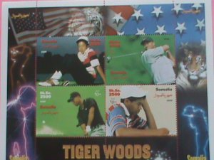 SOMALIA STAMP-2000-TIGER WOODS -MNH STAMP SHEET - VERY RARE AND HARD TO FIND.