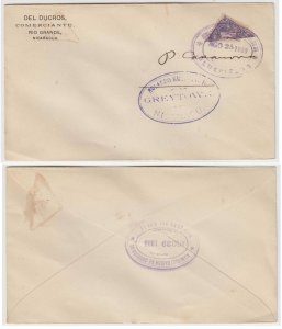 NICARAGUA 1899, AUG 25 BISECTED 10 Cents ON COVER BLUEFIELDS-SAN JUAN DEL NORTE