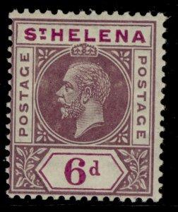 ST. HELENA GVI SG86, 6d dull & bright purple, VLH MINT. Cat £14.
