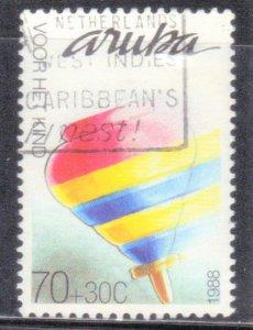 ARUBA  SCOTT# B14  **USED** 70c+30c   1988    SEE SCAN