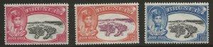 Brunei  (1949)  - Scott # 76 - 78,   MH
