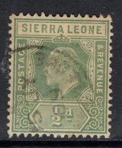 SIERRA LEONE SG99 1907 ½d GREEN USED