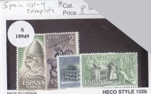 Spain: Sc 1121-1124, MH (S18949)