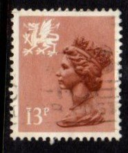 Wales - #WMMH21 Machin Queen Elizabeth II - Used