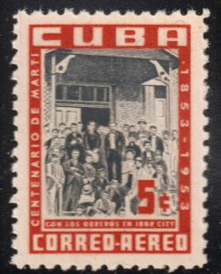 1953 Cuba Stamps Sc C 80 Marti With Workers in Tampa  MNH