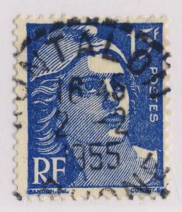 FRANCE 1955 CAD  RONTALON / RHÔNE  BUREAU DE DISTRIBUTION sur n°886