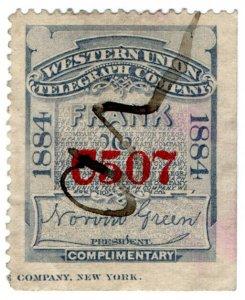 (I.B) USA Telegraphs : Western Union (1884)