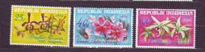 J22772 JLstamps 1976 indonesia set mnh #978-80 flowers
