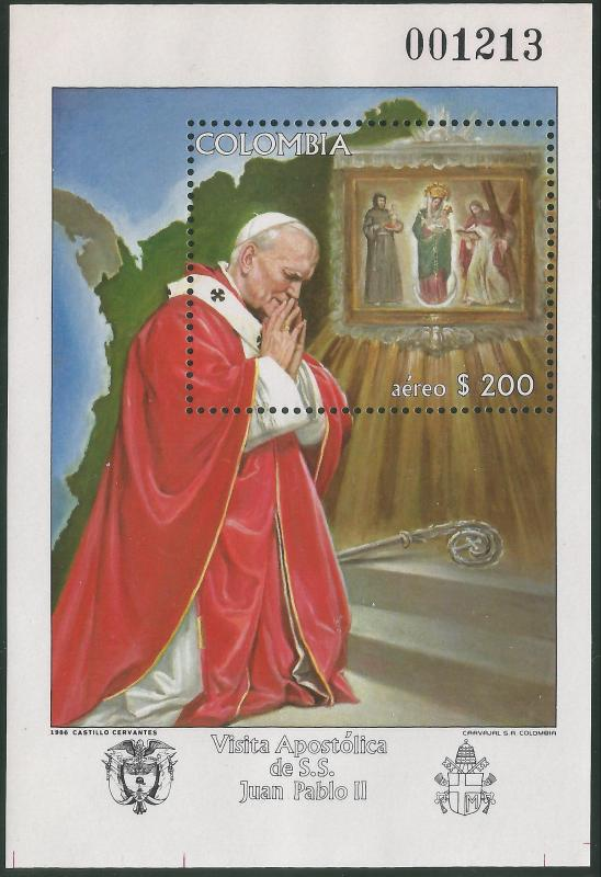 COLOMBIA C764 MNH POPE SS D1