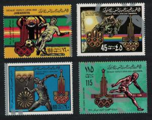 Libya Football Horse-jumping Summer Olympic Games Moscow 4v SG#939-942