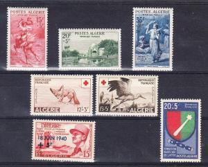 Algeria - 4 complete Mint NH sets (Catalog Value $48.00)