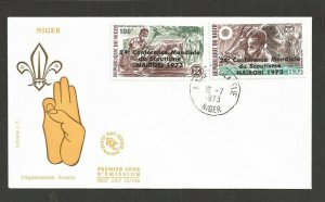 1973 Niger Boy Scout African Conference first aid ovpt FDC