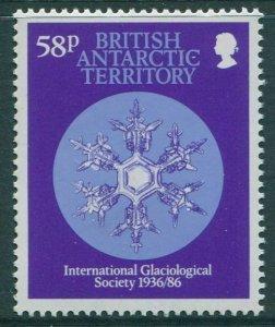 British Antarctic Territory 1986 SG154 58p Snow Crystal MNH