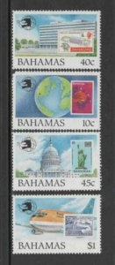 BAHAMAS #683-686 1989 WORLD STAMP EXPO '89 MINT VF NH O.G