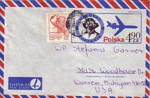 Poland, Airmail, Postal Stationery, Astronomy