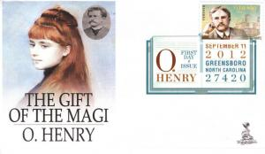 O. Henry First Day Cover, w/ DCP cancel.