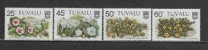 TUVALU #231-234 1984 BEACH FLOWERS MINT VF NH O.G