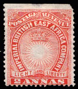 British East Africa Scott 16 Unused with hinge remnant.