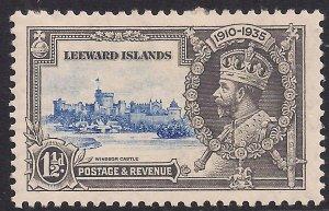 Leeward Islands 1935 KGV 1 1/2d Silver Jubilee MM SG 89 ( L127 )