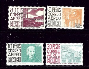 Mexico C265-68 MNH 1962-63 Air Mail set