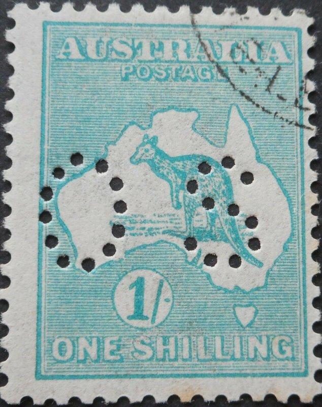 Australia 1926 1/- Kangaroo Die IIB 3rd wmk Official SG O48b CTO used