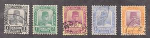 Malaya-Trengganu - 1921-25 - SC 20-21,26,29,31 - Used