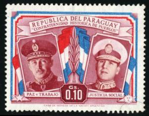 PARAGUAY - SC #487 - Used - 1955 - Item PARA001