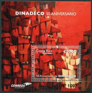 HERRICKSTAMP NEW ISSUES COSTA RICA Sc.# 685 Dinadeco 50th Anniv. S/S
