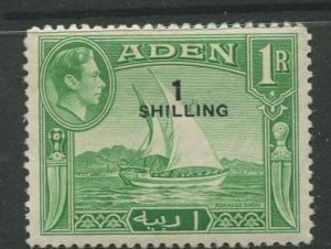 STAMP STATION PERTH Aden #43 KGVI Definitive Overprint Issue 1951 MVLH CV$2.75.
