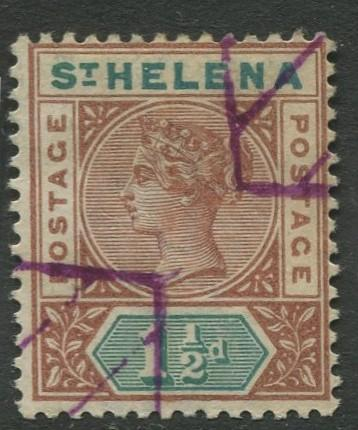 St.Helena - Scott 42 - QV Definitive -1894 - MH - Single 1.1/2p Stamp