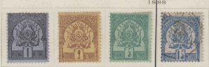 FRANCE TUNISIA 1-4 MINT USED MOST SOUND $75 SCV