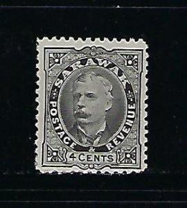SARAWAK SCOTT #29 1895 CHARLES JOHNSON BROOKE 4C (BLACK)  MINT HINGED