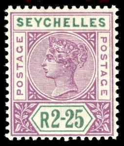 Seychelles 1900 QV 2r 25c bright mauve & green MLH. SG 36. Sc 21.