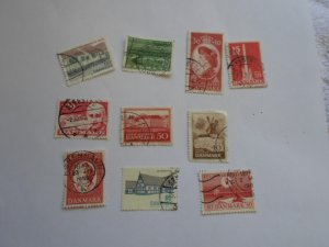 DENMARK STAMPS, LOT OF 10 STAMPS # 4