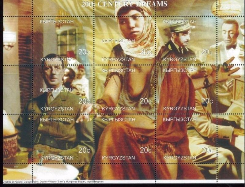 20th CENTURY DREAMS Dooley Wilson Sam Souvenir Sheet MNH / Kyrgyzstan - E3