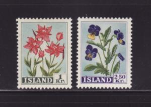Iceland 309-310 Set MH Flowers
