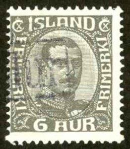 Iceland Sc# 179 (Revenue CXL) Used 1931-1933 6a Christian X