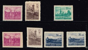 GERMANY STAMP Estland WWII War Germany Estonia Occupation STAMPS COLLECTION LOT