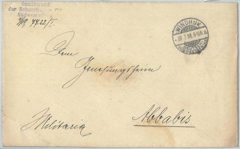 69990 - GERMAN COLONIES: SWA Namibia - POSTAL HISTORY: COVER  from WINDHUK 1906