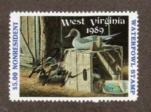 WV3A - West Virginia State Duck Stamp. MNH. OG. Non Res.A/S. #02 WV3AAS