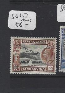 KENYA, UGANDA, TANGANYIKA  (P0909B) KGV 65C SG 117  MOG