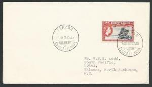 GILBERT & ELLICE IS 1965 cover to New Zealand - TARAWA cds.................11083