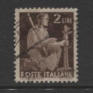 Italy - Scott 470 - Definitive -1945 -VFU - Single 2.l Stamp