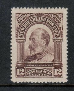 Newfoundland #102 Extra Fine Mint Lightly Hinged