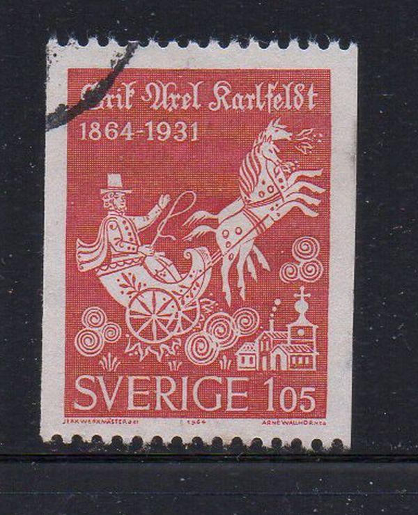 Sweden Sc 641 1964 105 ore Karlfeldt stamp used